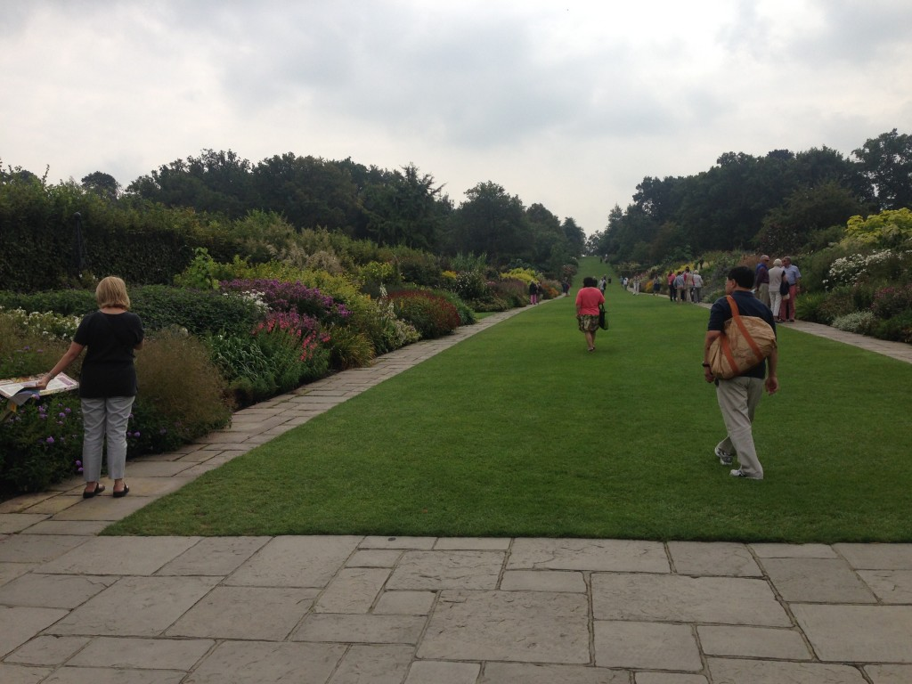 The main border walk way - RHS Wisley September 2014
