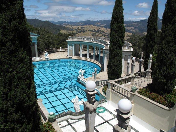 Hearst castle s pool jack wallington garden design for Castle gardens pool